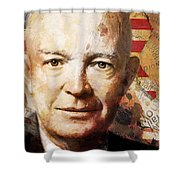 Dwight D. Eisenhower Shower Curtain by Corporate Art Task Force