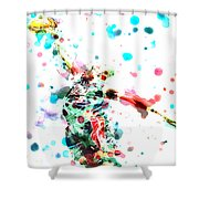 Dwyane Wade Shower Curtain by Brian Reaves