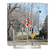 Dx Gas Sign Shower Curtain