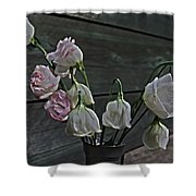 Dying Grieving Flowers Shower Curtain