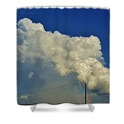 Dying Texas Supercell Shower Curtain