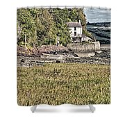 Dylan Thomas Boathouse At Laugharne 2 Shower Curtain
