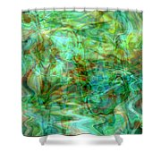 Dynamic Abstract Art Shower Curtain