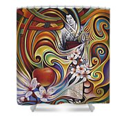 Dynamic Blossoms Shower Curtain