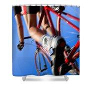 Dynamic Racing Cycle Shower Curtain