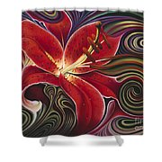 Dynamic Reds Shower Curtain