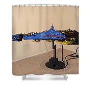 Dynonochus 3 Shower Curtain