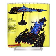 Dynonochus Flyer Back Shower Curtain