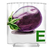E Art Alphabet For Kids Room Shower Curtain
