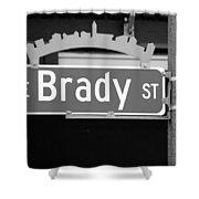 E Brady St Shower Curtain