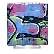 E Is For Equality Shower Curtain by Donna Blackhall