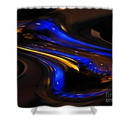 E-motional Afterglow Shower Curtain