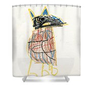 E's Crow Shower Curtain