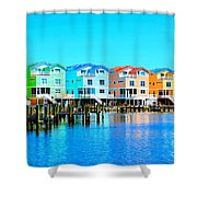 E Sea Living Shower Curtain