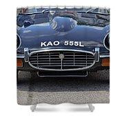 E Type Jaguar V12 Shower Curtain