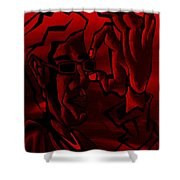 E Vincent Red Shower Curtain