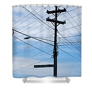E Wt Harris Blvd - Charlotte Shower Curtain