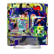 Each Positive Step Is Vital 9 Shower Curtain by David Baruch Wolk