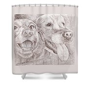 Eager Best Friends Shower Curtain