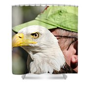 Eagle And His Man Shower Curtain