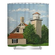 Eagle Bluff Lighthouse Wisconsin Shower Curtain