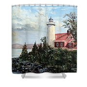 Eagle Harbor Light Shower Curtain
