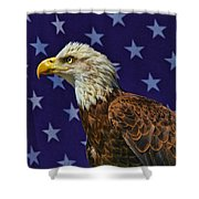 Eagle In The Starz Shower Curtain