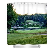 Eagle Knoll - Hole Fourteen From The Tees Shower Curtain
