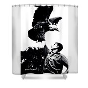 King Of Vultures Shower Curtain