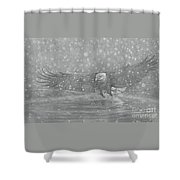 Eagle Over Water Shower Curtain
