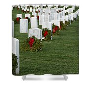 Eagle Point National Cemetery At Christmas Shower Curtain