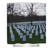 Eagle Point National Cemetery In Winter 1 Shower Curtain