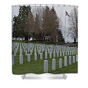 Eagle Point National Cemetery In Winter 2 Shower Curtain