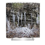 Eagle Rock Icicles 2 Shower Curtain