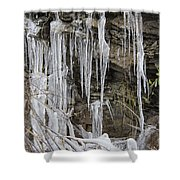 Eagle Rock Icicles Shower Curtain