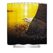 Eagle Sunset Shower Curtain
