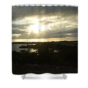 Eagle Sunset Shower Curtain