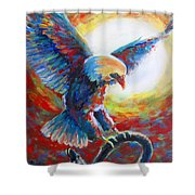 Eagle Takes Charge Shower Curtain