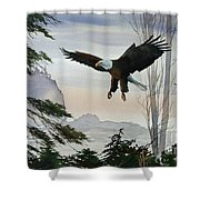 Eagle Wilderness Shower Curtain