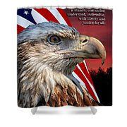 Eagle With Pledge Allegiance Shower Curtain