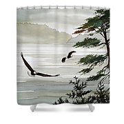 Eagles Eden Shower Curtain