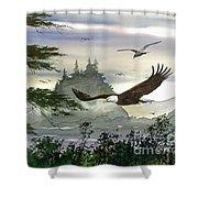Eagles Flight Shower Curtain