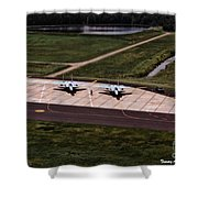 Eagles On The Ramp Shower Curtain