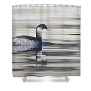 Eared Grebe Shower Curtain