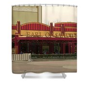 Earl Of Sandwich Downtown Disneyland Shower Curtain