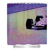 Early 60's Era Formula 1 Race Shower Curtain