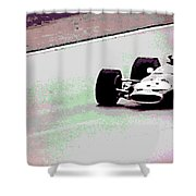 Early 60's Fun In A Formula 1 Race Shower Curtain