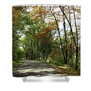 Early Autumn Drive Shower Curtain