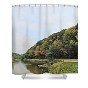 Early Autumn In Iowa Shower Curtain