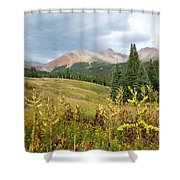 Early Autumn In The San Juans -  Mount Wilson And Wilson Peak Shower Curtain
